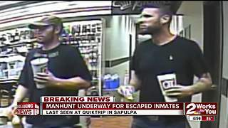 Manhunt underway for escaped inmates - Video