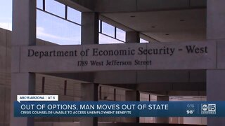 Crisis counselor unable to access unemployment benefits
