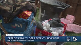 Detroit family loses everything in fire days after children's father died