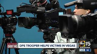 DPS trooper helps victims in Las Vegas shooting - Video