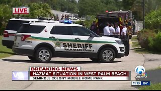 Deputies hospitalized after HAZMAT spill at Palm Beach County mobile home park