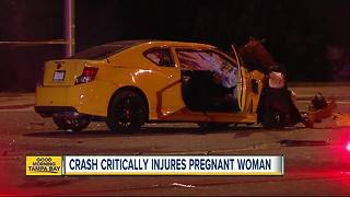 Pregnant woman in critical condition, unborn child killed in Ulmerton Road crash - Video