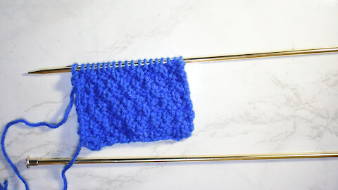 How to Knit the Diamond Blister Stitch