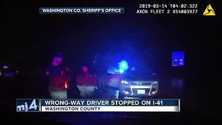 DASHCAM VIDEO: Wrong-way driver stopped on I-41