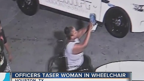 Officers tase woman in wheelchair and its caught on camera