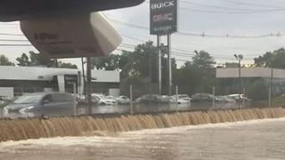 Cars Swamped as Flash Floods Hit New Jersey's Little Falls
