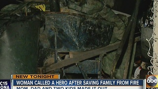 Neighbor credited with saving family from Laveen fire - Video