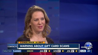 BBB warning about gift card scams