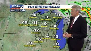 Mostly cloudy, patchy fog Monday night - Video