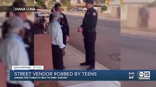 Valley street vendor robbed by teens