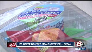 Indianapolis Public Schools hand off free meals during fall break - Video