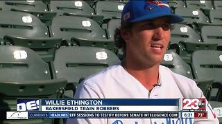 Bakersfield Train Robbers Player with minor league experience - Video