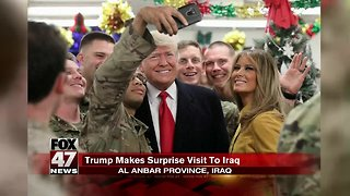 President and first lady make surprise visit to Iraq