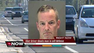 Uber driver shoots passenger after being attacked - Video