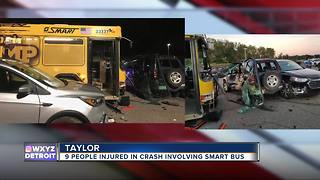 SMART bus crashes into vehicles in Southland Center parking lot injuring 9 people