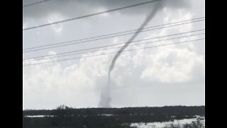 Waterspout Forms Off Florida's Key West