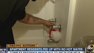 Residents of Glendale apartment complex fed up with lack of hot water - Video