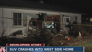 Homeowners speak on the vehicle crash into their home - Video