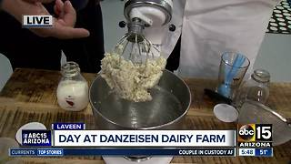 Making butter at Danzeisen Dairy Farm - Video