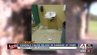 Vandals cause $5,000 in damage at park - Video