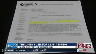 Health dept. urges for lead testing