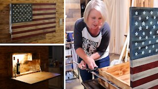 Building an American Flag Cabinet