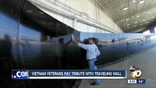 Vietnam veterans pay tribute with traveling wall