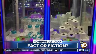 Claw machines replacing toys with toilet paper?