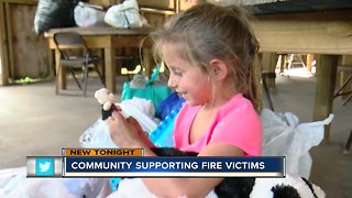 Community shows their support for mother and children who lost everything in fire