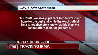Gov. Scott Declares State of Emergency to Prepare Florida for Hurricane Irma - Video