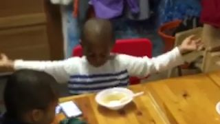 Little Boy Goes Nuts Over Good Food - Video