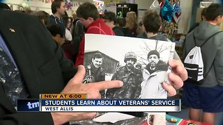 West Allis middle school students learn from veterans