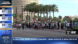 Large protest at Curtis Hixon Park