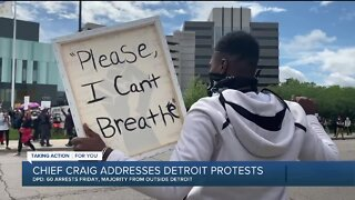 Chief Craig addresses protests in Detroit