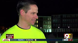 Withrow High School principal running 50 miles on track to inspire students - Video