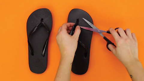 How to recycle old filp flops