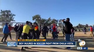 Boy injured in soccer fight from Chula Vista