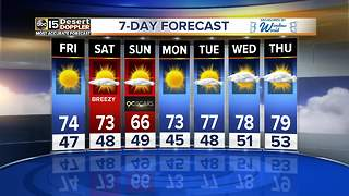 Warm, sunny weather ahead for the Valley Friday