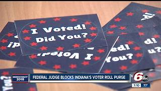 Federal judge blocks Indiana voter registration law - Video