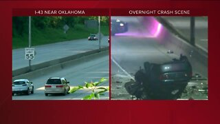At least one killed in overnight crash on I-43 in Milwaukee County