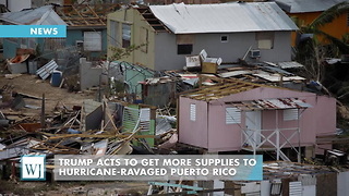 Trump Acts To Get More Supplies To Hurricane-Ravaged Puerto Rico