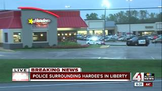 Liberty Hardee's evacuated due to standoff - Video
