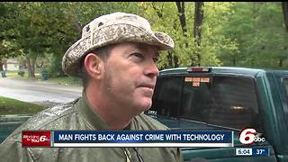 Man installs electronic surveillance system at his home to fight back against crime - Video