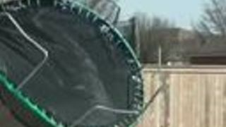 Flying Trampoline Spotted on Suburban Street in Oklahoma - Video