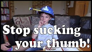 How to stop kids sucking on their thumbs invention gizmo - Video