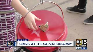 Salvation Army behind on donations leading to Christmas - Video