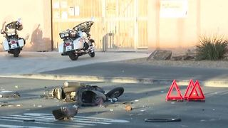 Las Vegas police investigate fatal crash involving truck, moped - Video