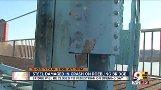 Roebling path closed on Opening Day - Video