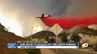 Some refuse to evacuate Holy Fire despite warnings - Video