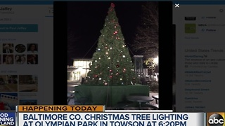 Christmas tree lightings scheduled in Maryland - Video